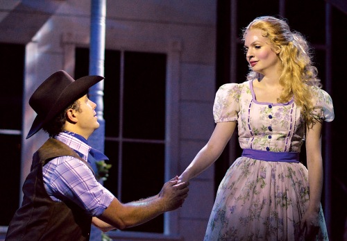 "Eric Morris and Grace Anne Field star as Curly and Laurey in B&B's ""Oklahoma!"""